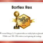 BORFLEX® parmi les l'un des 10 meilleurs fournisseur de solutions pour les technologies du caoutchouc et du pneu